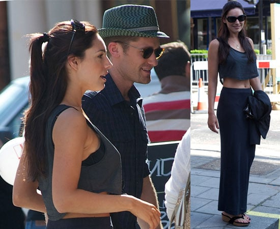 Pictures of Kelly Brook and Glee Matthew Morrison Out in London Together 2010-06-24 16:00:13