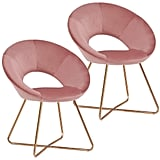 Pink Accent Chair Set of 2