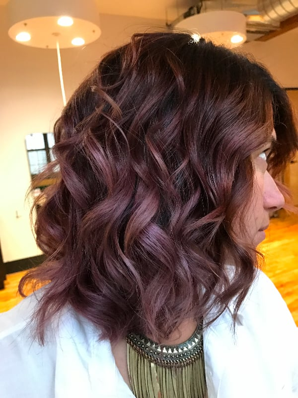 Chocolate Mauve in Daylight | Chocolate Mauve Hair Color ...