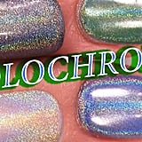 DIY HOLO-CHROME NAILS - How to apply pigment powder