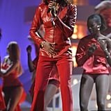 Performing at the MTV European Music Awards in 2002.