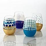 Dot Stemless Wine Glasses