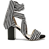 Raye's Maggie Heels ($185) provide the alternative to checks: bold stripes.