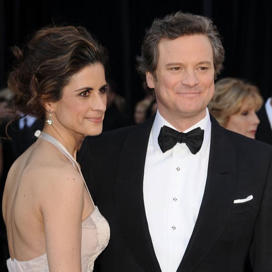 Pictures of Colin Firth and His Wife Livia Giuggioli on the 2011 Oscars Red Carpet