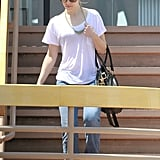Rachel McAdams stepped out in a white tee-shirt and jeans in LA.