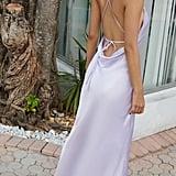 UO Romi Open-Back Maxi Slip Dress