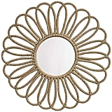 House Tyrell: Jamie Young Jute Large Flower  Round Wall Mirror