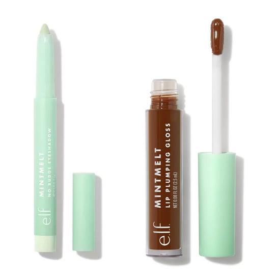 E.l.f. Mint Green Makeup Palettes, Lip Glosses, and Brushes