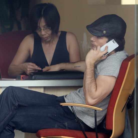 Ian Somerhalder Gets a Manicure (Pictures)