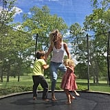 Gisele Bündchen got in some trampoline time with her kids on Saturday.