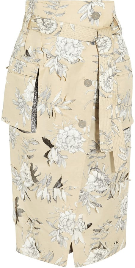 Maison Margiela Floral-Print Cotton and Linen-Blend Skirt (£2,215)