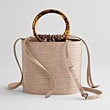 Elizabeth and James Ring Handle Croco Crossbody Bag