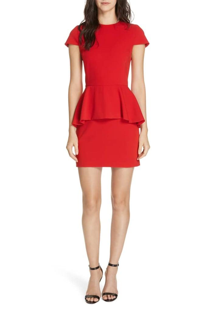 3f2bd59143d Alice + Olivia Ember Peplum Fitted Dress