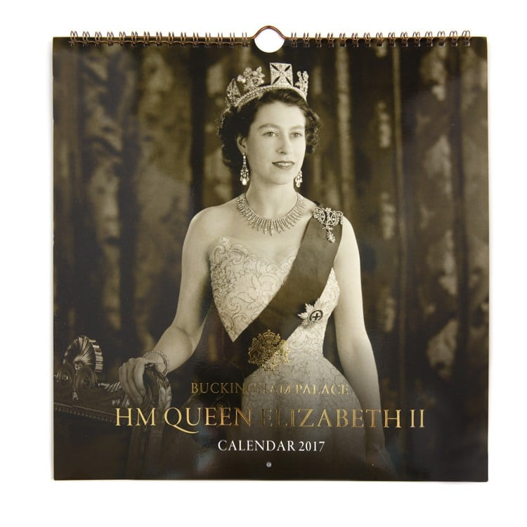 Queen Elizabeth II Calendar 2017 ($11)