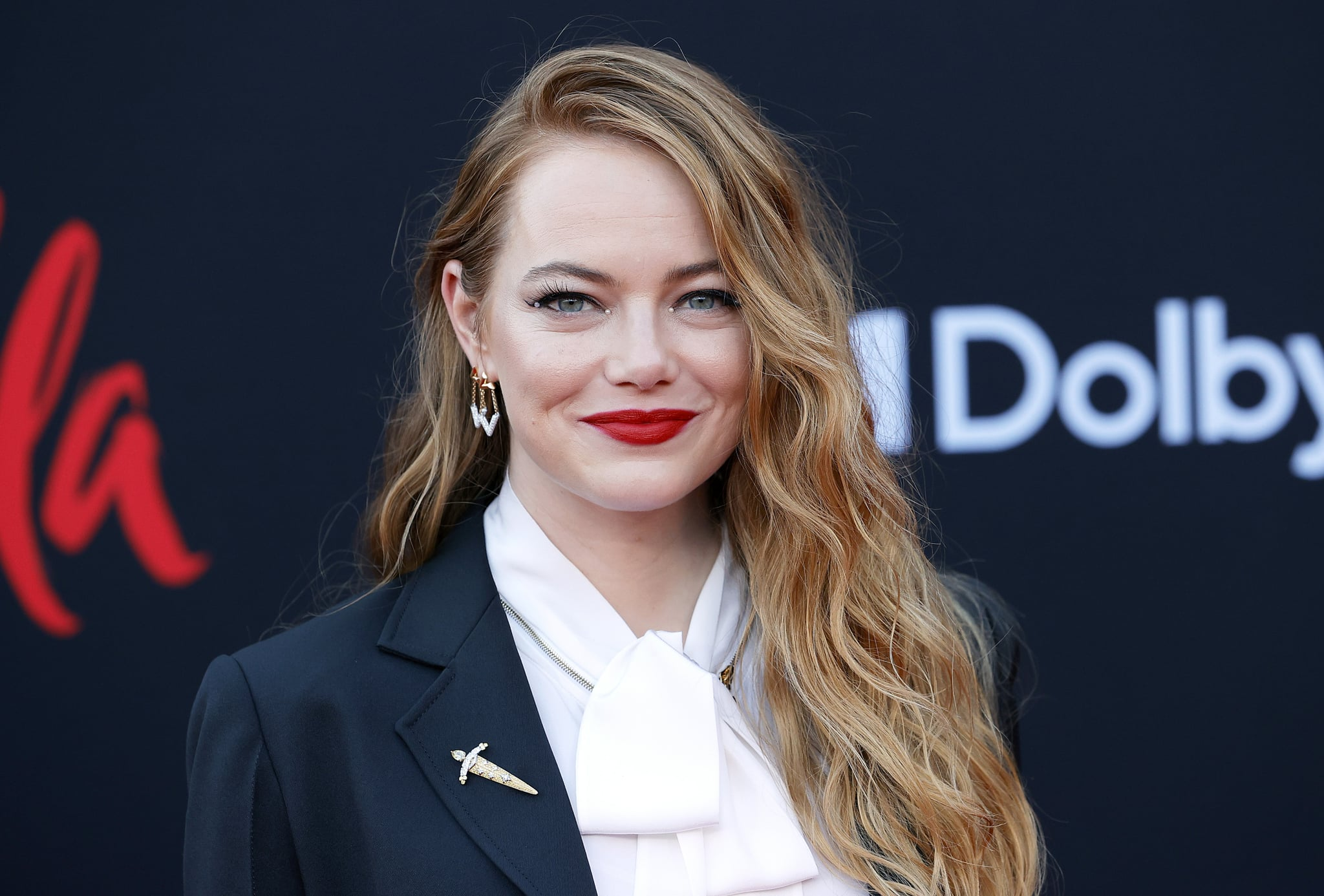 LOS ANGELES, CALIFORNIA - MAY 18: Emma Stone attends the Los Angeles premiere of Disney's