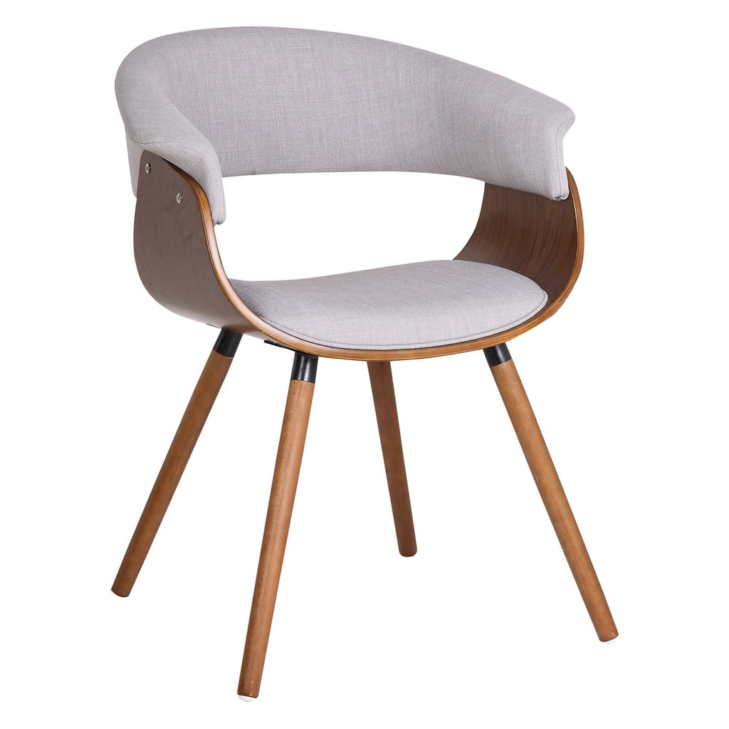 !nspire Mid Century Side Chair With Wood Legs