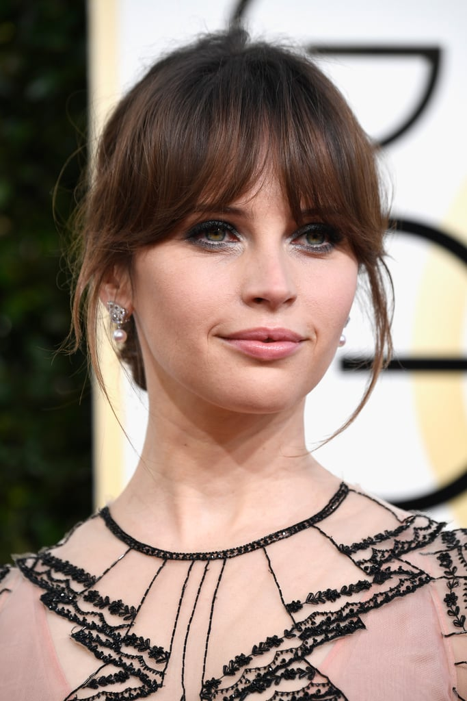Felicity Jones at the Golden Globes