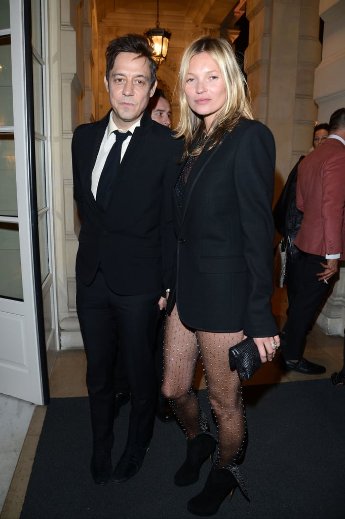 Kate Moss and husband Jamie Hince arrived at the magazine launch party together in Paris.