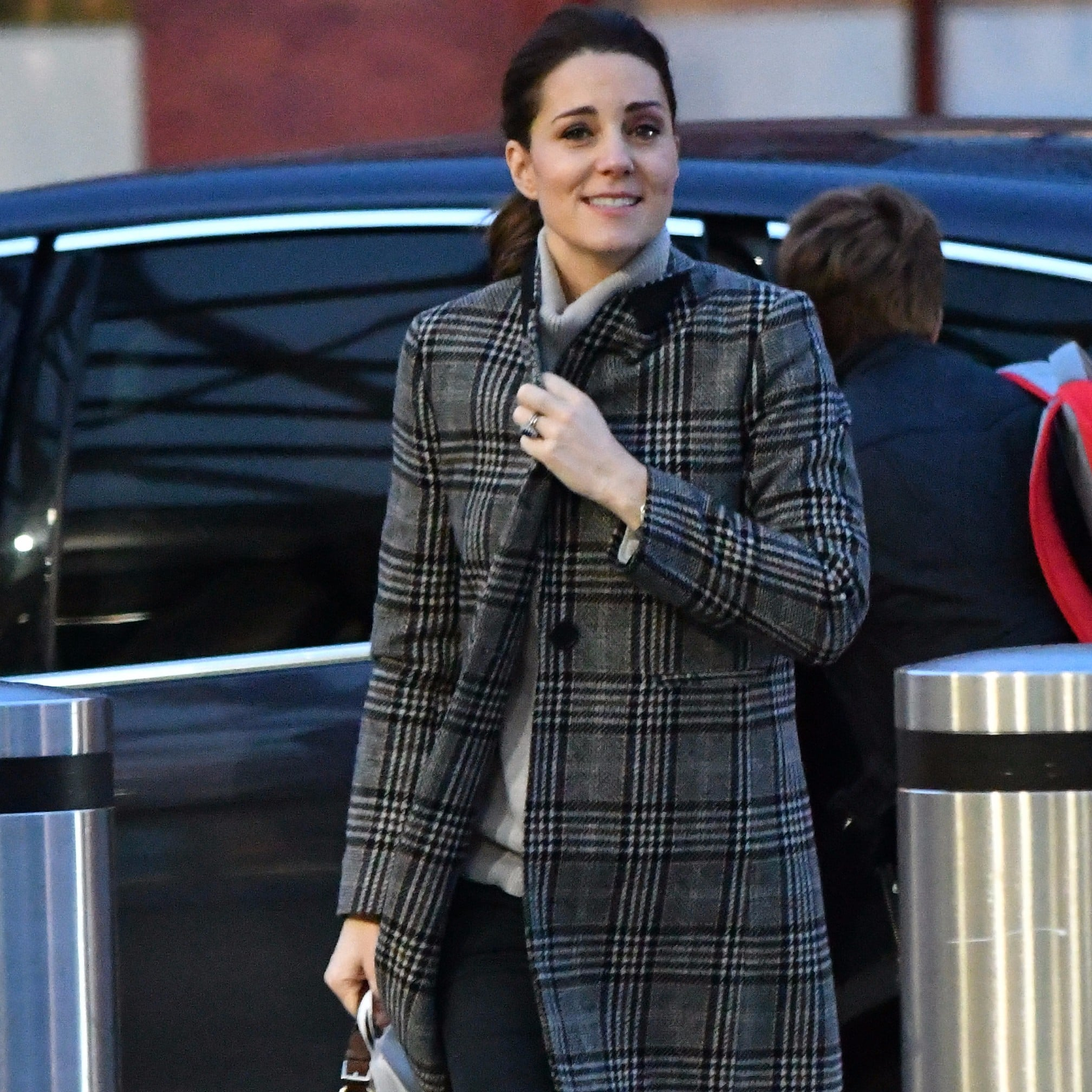 2f09af94 Kate Middleton Plaid Zara Coat | POPSUGAR Fashion