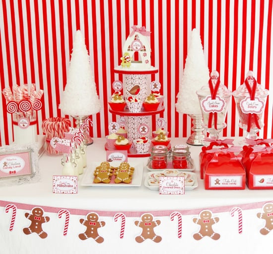 Christmas Candy Cane Dessert Table Christmas Party Ideas For Kids