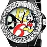 Mickey Mouse Black Enamel Bracelet Watch