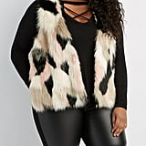 Charlotte Russe Plus Size Multicolor Faux Fur Sweater Vest