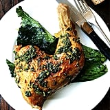 Crispy Quartered Chicken With Herb Sauce