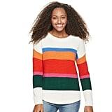 SO Shirttail Hem Pullover Sweater