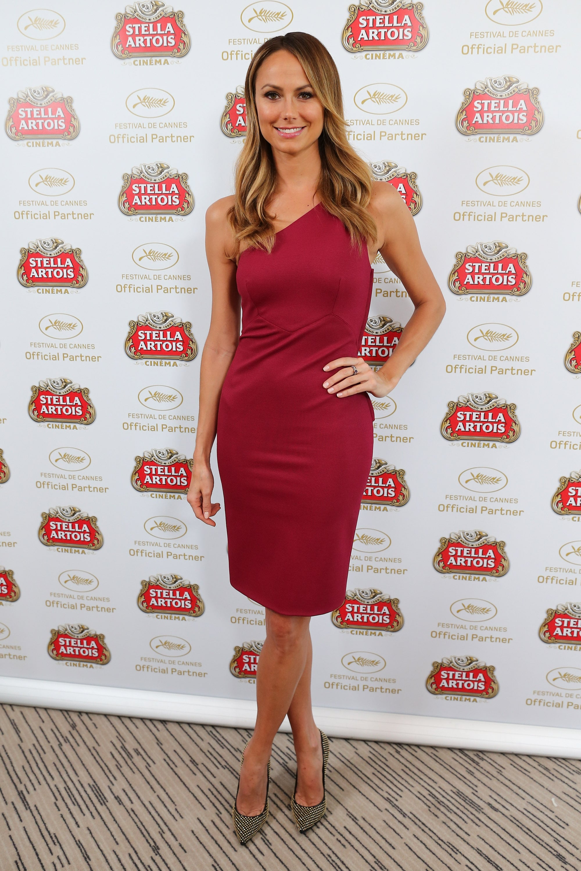Stacy Keibler visited the Stella Artois Suite during the Cannes Film Festival on Wednesday.