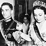 King Hussein and Princess Dina The Bride: Princess Dina, daughter of Prince Abdel-Hamid Aoun of Hijaz. The Groom: King Hussein of Jordan. When: April 22, 1955. He would marry three more times, but Dina was his first wife. Where: Amman, Jordan.