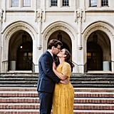 Harry Potter Hufflepuff and Ravenclaw Engagement Photos