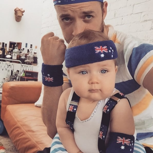 Hamish and Sonny showed their patriotic sides on Australia Day 2015.