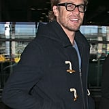 Simon Baker made a handsome arrival in France on Tuesday.