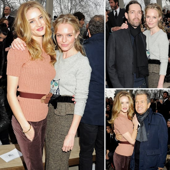 Kate Bosworth and Rosie Huntington-Whiteley Dress Up For Burberry