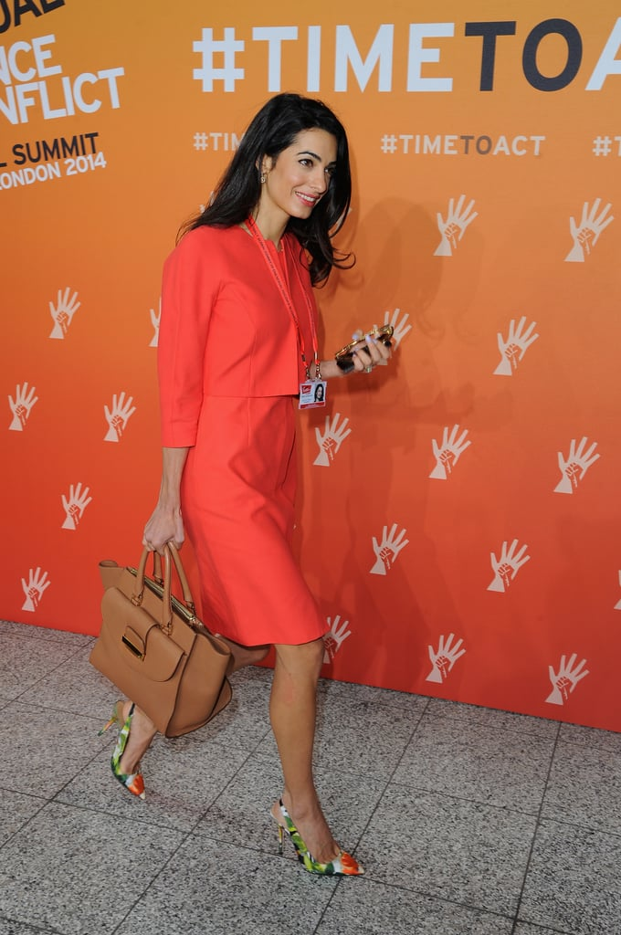 Amal Alamuddin also attended the second day of the summit.