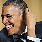 The president cracked up.