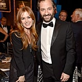 Judd Apatow met up with Isla Fisher inside the event.