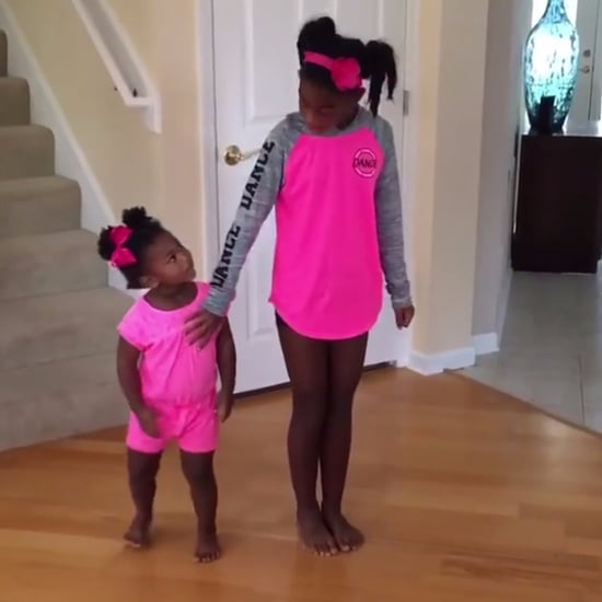 Video of Little Sister Dancing With Big Sister