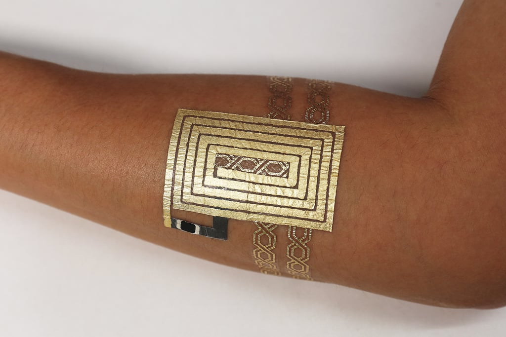 Then there's the communication DuoSkin tattoo device, like this NFC tag.