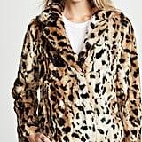 Velvet Juliana Faux Fur Leopard Coat