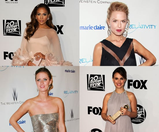 Celebrities Wearing Short Dresses at the 2011 Golden Globes After Parties