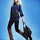 Highlight your waist with a belt  Komodo Yema sweater, From £60, Ashley Watson recycled Obi belt £45, Ashley Watson recycled Thrush bag From £160, Sternlein organic opaques £19.50