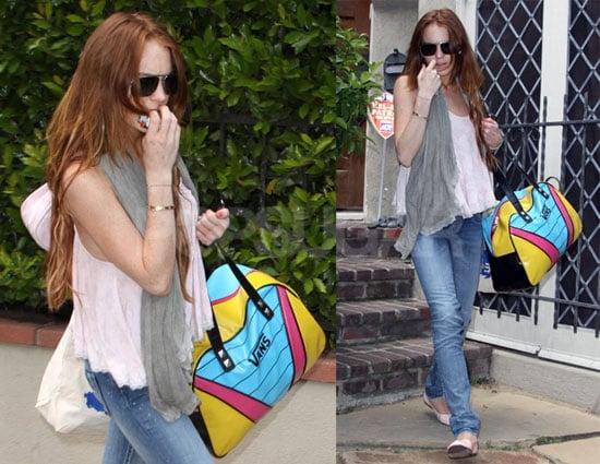 Photos of Lindsay Lohan Leaving Samantha Ronson's House