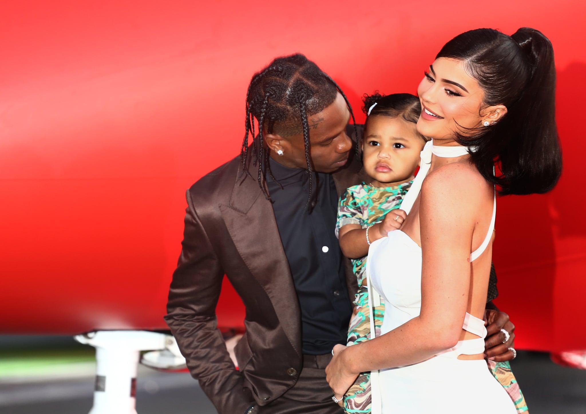 SANTA MONICA, CALIFORNIA - AUGUST 27: Travis Scott and Kylie Jenner attend the Travis Scott: