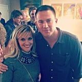 The actress just casually hung out with Channing Tatum.