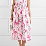 Les Reveries Pleated Floral-Print Dress