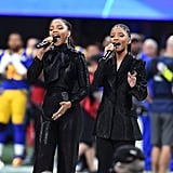 """Chloe x Halle, who performed """"America the Beautiful."""""""