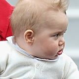Even Prince George had an unscripted moment when the wind blew his hair into a faux-hawk on April 7.