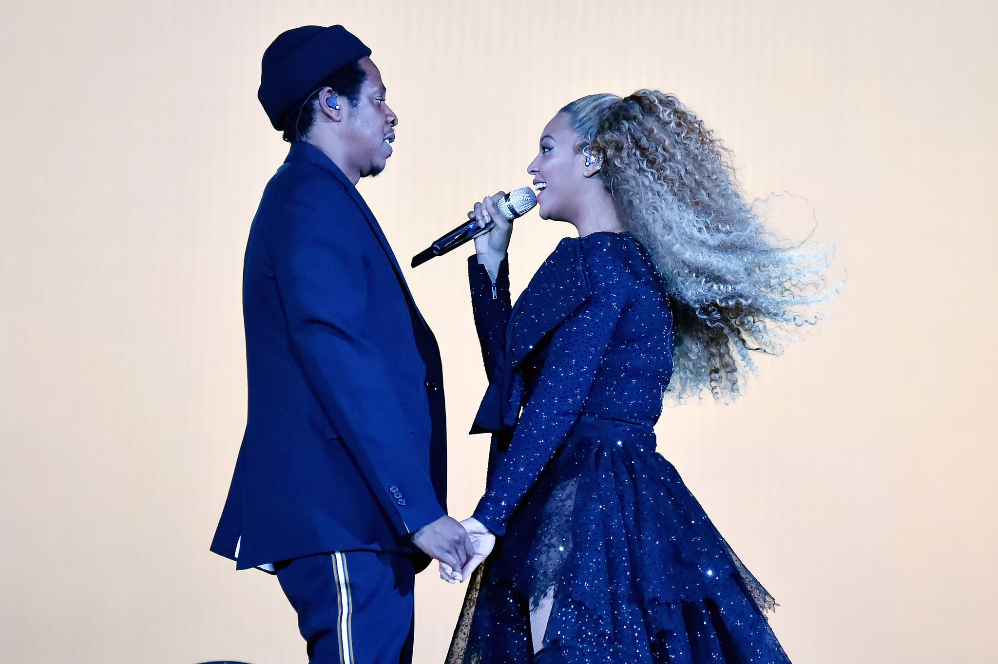 CARDIFF, WALES - JUNE 06:  Jay-Z and Beyonce Knowles perform on stage during the