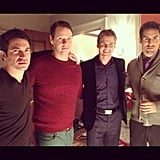 Mindy Kaling rounded up the men of The Mindy Project. Source: Instagram user mindykaling
